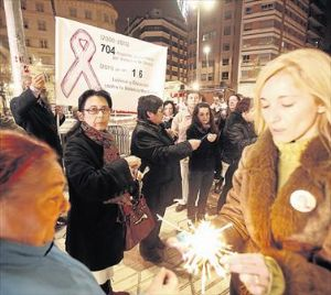 Concentración en contra de la Violencia de Género