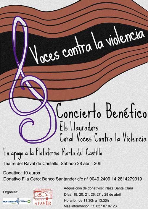 Concierto Benéfico-Marta del Castillo - AFAVIR