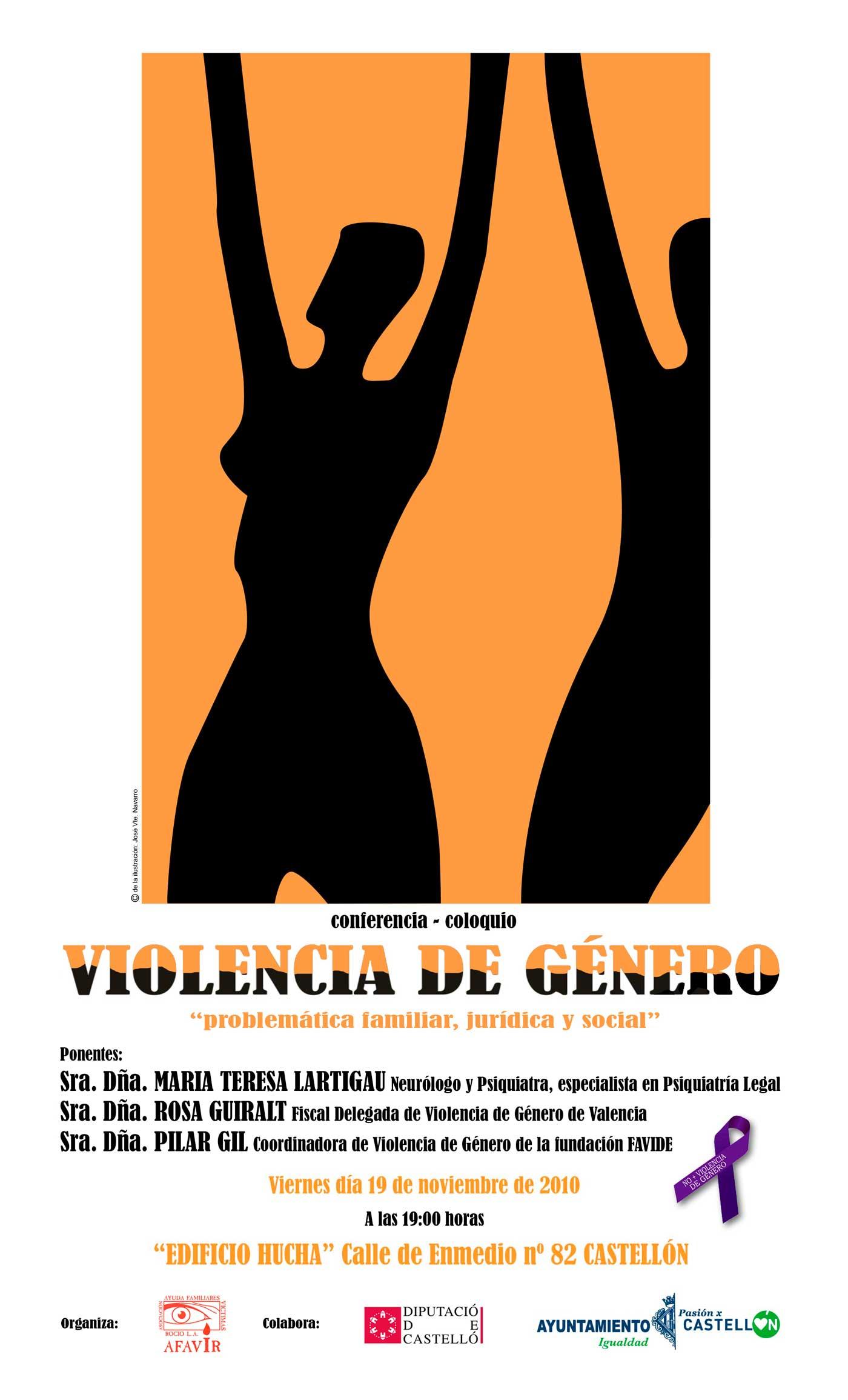 Conferencia de Violencia de Género Problemática Familiar Jurídica y Social - AFAVIR